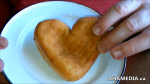 Garvin Snider of AHA MEDIA on Heart Shaped Jelly Doughnut for Valentine's Day 2015 in Vancouver DTES 1 (3)