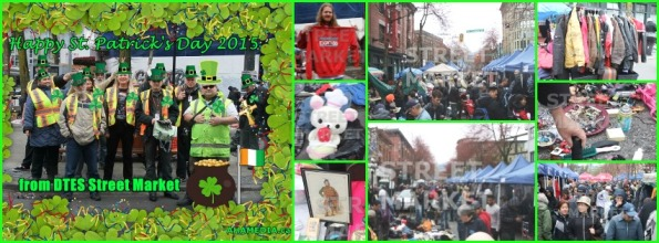 0 Happy St Patrick Day 2015 from DTES Street Market