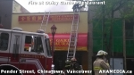 11 AHA MEDIA at Fire at Daisy Garden restaurant in Chinatown, Vancouver April 21, 2015