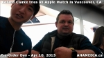 2 Roland Clarke tries on Apple Watch in Vancouver Canada on April 10, 2015