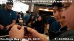 22 Roland Clarke tries on Apple Watch in Vancouver Canada on April 10, 2015