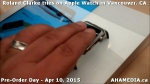 27 Roland Clarke tries on Apple Watch in Vancouver Canada on April 10, 2015