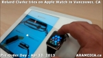 28 Roland Clarke tries on Apple Watch in Vancouver Canada on April 10, 2015