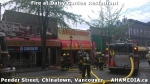 3 AHA MEDIA at Fire at Daisy Garden restaurant in Chinatown, Vancouver April 21,2015