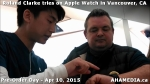 3 Roland Clarke tries on Apple Watch in Vancouver Canada on April 10, 2015