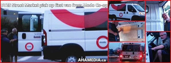 0 DTES Street Market pick up first van from Modo
