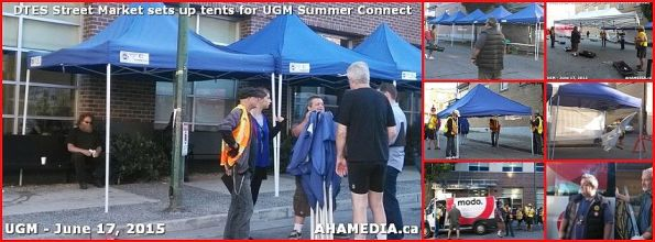 0 DTES Street Market sets up tents for UGM Summer Connect 2015