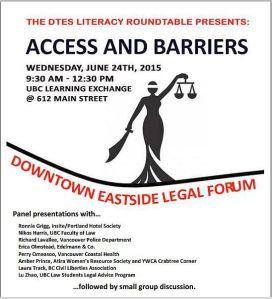 DTES legal forum