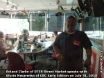 10 AHA MEDIA sees Roland Clarke of DTES Street Market with Gloria Macareno of CBC Early Edition Jul 31