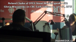 11 Roland Clarke of DTES Street Market speaks with Gloria Macarenko of CBC Early Edition on Jul 31 2015 (2)