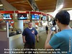 4 AHA MEDIA sees Roland Clarke of DTES Street Market with Gloria Macareno of CBC Early Edition Jul 31