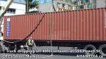 Truck dropping off container at 501 Powell for DTES Street Market (12)
