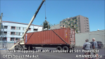 Truck dropping off container at 501 Powell for DTES Street Market (15)