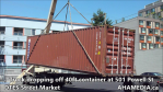 Truck dropping off container at 501 Powell for DTES Street Market (16)
