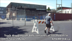 Truck dropping off container at 501 Powell for DTES Street Market (21)