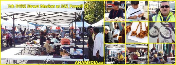 0 7th DTES Street Market at 501 Powell St in Vancouver on Sept 12 2015