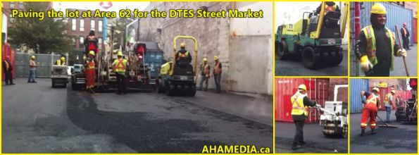 0 Paving the lot at Area 62 for DTES Street Market on Sept 17 2015
