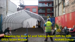 1 Cleaning Up Area 62 and Taking down 40ft Tent for DTES Street Market in Vancouver on Sept 15 2015 (2)