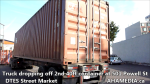 1 Truck dropping off 2nd 40ft container at 501 Powell St for DTES Street Market (1)