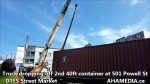 1 Truck dropping off 2nd 40ft container at 501 Powell St for DTES Street Market(3)