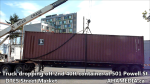 1 Truck dropping off 2nd 40ft container at 501 Powell St for DTES Street Market (4)