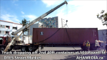1 Truck dropping off 2nd 40ft container at 501 Powell St for DTES Street Market (5)