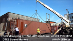 1 Truck dropping off 2nd 40ft container at 501 Powell St for DTES Street Market (6)