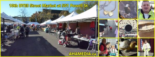 0 10th DTES Street Market at 501 Powell St in Vancouver on Oct 3 2015