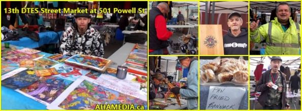 00 AHA MEDIA at 13th DTES Street Market at 501 Powell in Vancouver on Oct 24 2015