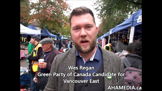 Wes Regan, Green Party of Canada Candidate for Vancouver East
