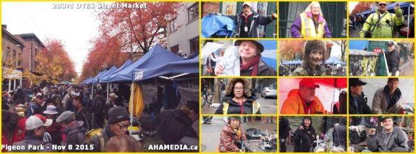 0 AHA MEDIA at 283rd DTES Street Market in Vancouver on Nov 8 2015
