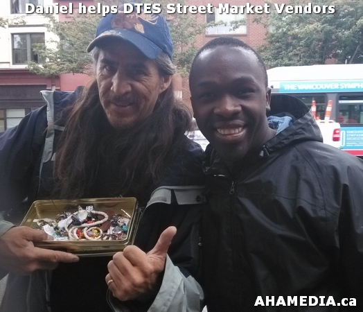1 AHA MEDIA sees Daniel helping DTES Street Market vendors