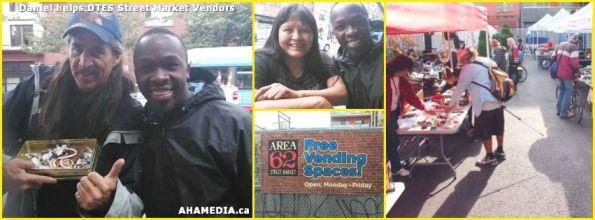 1 AHA MEDIA sees Daniel helping DTES Street Market vendors