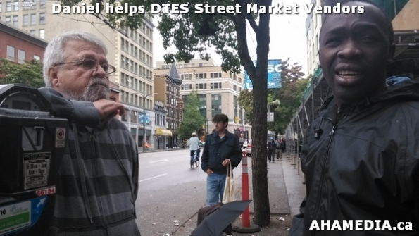 2 AHA MEDIA sees Daniel helping DTES Street Market vendors