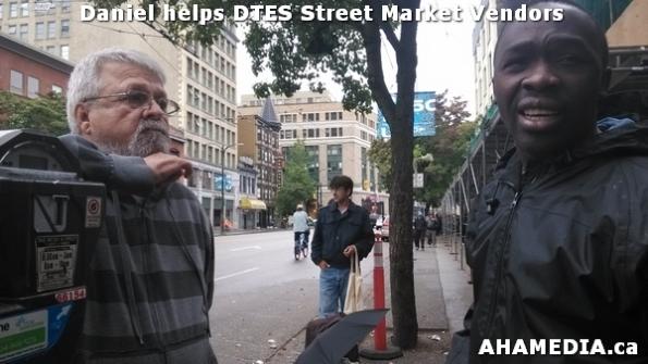 2 AHA MEDIA sees Daniel helping DTES Street Market vendors