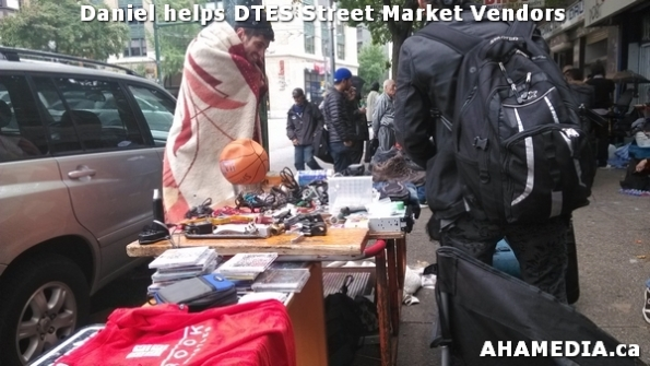 3 AHA MEDIA sees Daniel helping DTES Street Market vendors
