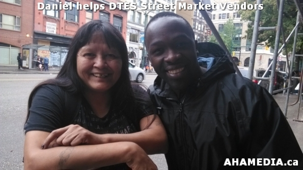 4 AHA MEDIA sees Daniel helping DTES Street Market vendors