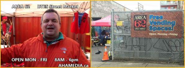 AHA MEDIA at Area 62 DTES Street Market