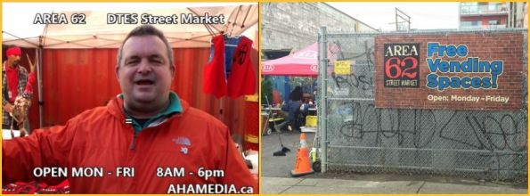 AHA MEDIA at Area 62 DTES Street Market