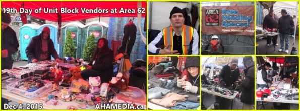 0 AHA MEDIA at 19th Day of Unit Block vendors going to Area 62 DTES Street Market in Vancouver on Dec 4 2015
