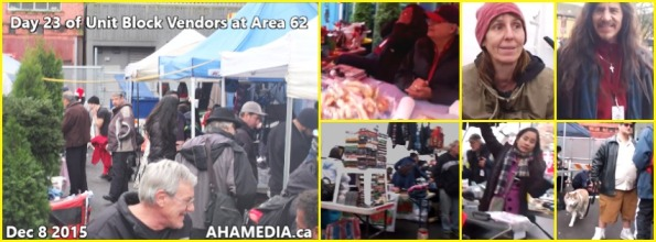 0 AHA MEDIA at 23rd Day of Unit Block vendors going to Area 62 DTES Street Market in Vancouver on Dec 8 2015