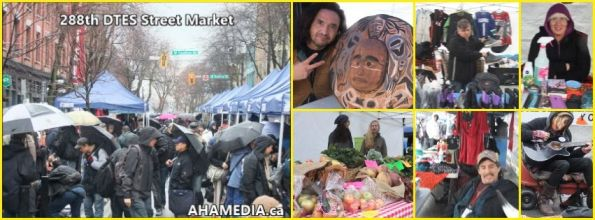 0 AHA MEDIA at 288th DTES Street Market in Vancouver on Dec 13 2015