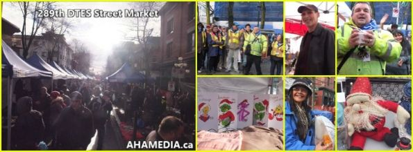 0 AHA MEDIA at 289th DTES Street Market in Vancouver on Dec 20 2015