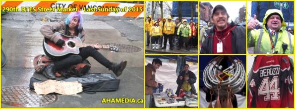0 AHA MEDIA at 290th DTES Street Market - Last Sunday Market of 2015 in Vancouver on Dec 27 2015