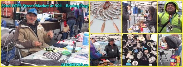 0 AHA MEDIA at Boxing Day -22nd DTES Street Market at 501 Powell St on  on Dec 26 2015