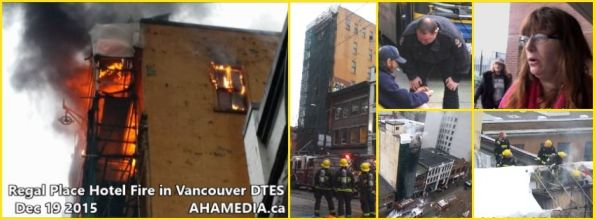 0 AHA Media sees Regal Place Hotel Fire in Vancouver DTES on Dec 19 2015