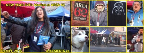 00 AHA MEDIA at New Year Eve's 2015 at DTES Street Market Area 62 in Vancouver on Dec 31 2015