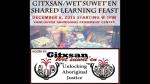 1 AHA MEDIA at Gitxsan Wet'suwet'en Shared Learning Feast in Vancouver on Dec 6 2015 (1)
