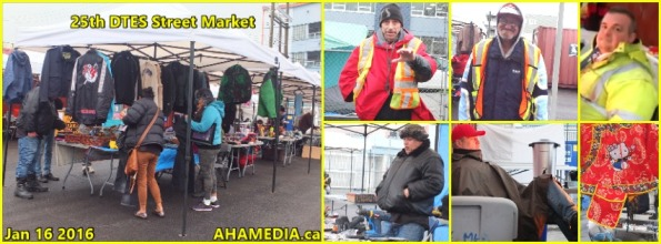 0 AHA MEDIA at 25th DTES Street Market at 501 Powell St in Vancouver on Jan 16 2016