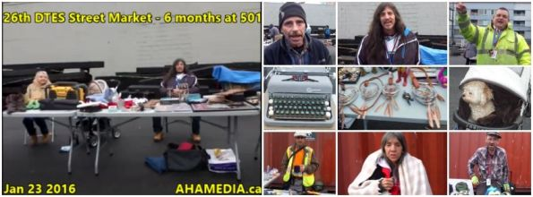 0 AHA MEDIA at 26th DTES Street Market at 501 Powell St in Vancouver on Jan 23 2016